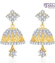 Buy Sukkhi Marvellous Gold and Rhodium Plated CZ Jhumki(117E1450) jhumka online