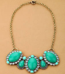 Buy Crystal green necklace  Necklace online
