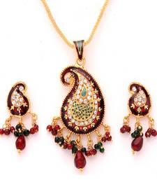 Buy Maroon Diamond pendants Pendant online
