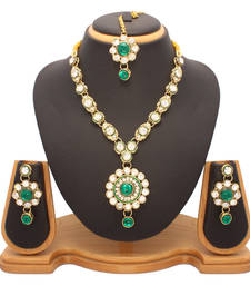 Buy green Diamond necklace-sets necklace-set online