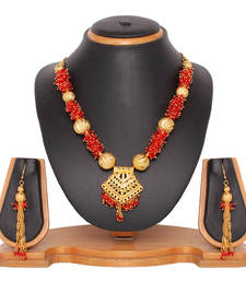 Buy red  necklace-sets necklace-set online