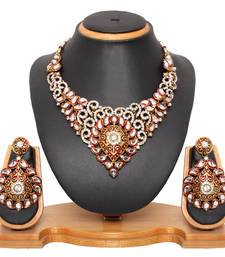 Buy red Diamond necklace-sets necklace-set online