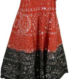 Buy Tie-Dye Bandhani Cotton Skirt gifts-for-her online