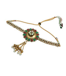 Buy Diamond and multi-coloured stones embellished bajubandh bajuband online
