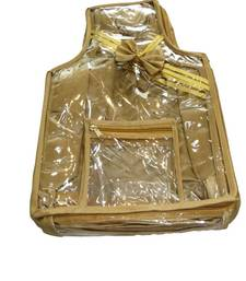 Buy beige colour blouse cover with single strand jewellery-box online