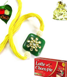 Buy Luxurious Splendid Royal Rakhi Pack with chocolate rakhi-with-chocolate online