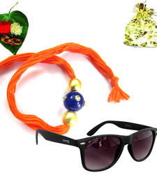 Buy Jewel Kundan 2015 Rakhi  with Stylish Shades gifts-for-brother online
