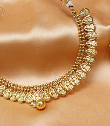 Buy Gorgeous Gold plated temple ginni necklace necklace-set online