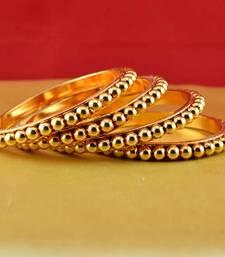 Buy Rajasthani gokharoo,kara churi meenakari,moti,cz,stone,bangles size-2.4,2.6,2.8 bangles-and-bracelet online
