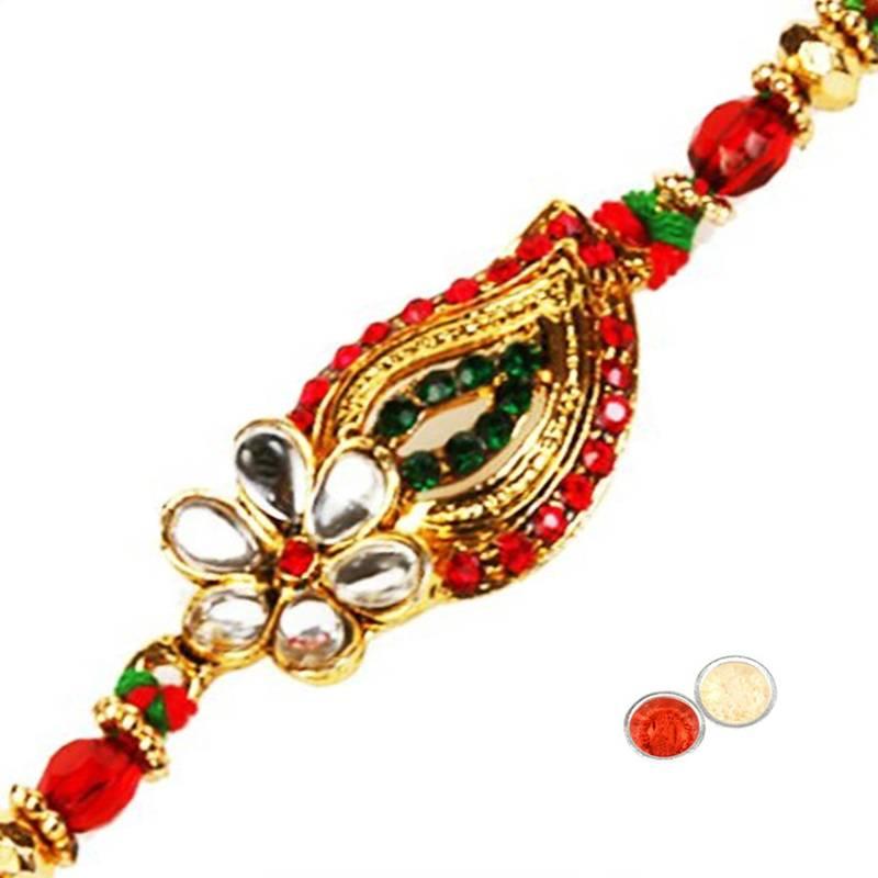 Buy Handcrafted Designer Fancy Stone Rakhi Online