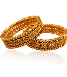 Buy Temptation Gold plated Antique Bangle bangles-and-bracelet online