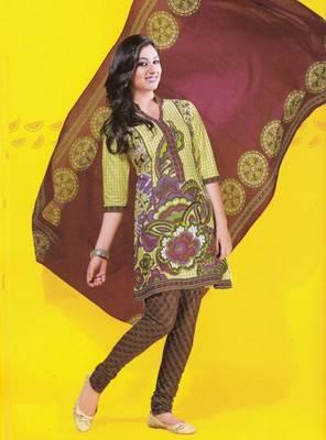Dress material cotton designer prints unstitched salwar kameez suit d.no 1722