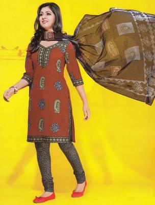 Dress material cotton designer prints unstitched salwar kameez suit d.no 1733