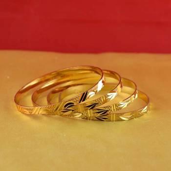 gold moti stone cz polki kundun meenakari pearl bangle kara size-2.4,