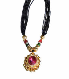Buy Multicolor Beads Mangalsutra Necklace online