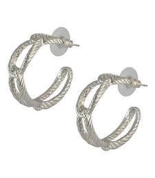 Buy Round Silver Drop Earring for Women danglers-drop online