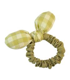 Buy Plain Green Fabric Hair Rubber Band for Women Other online