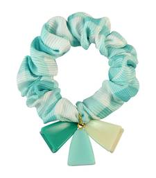 Buy Checks Print Green Fabric Hair Rubber Band for Women Other online