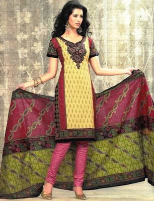 Dress material cotton designer prints unstitched salwar kameez suit d.no SG9131
