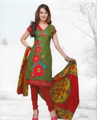 Dress material cotton designer prints unstitched salwar kameez suit d.no var7013