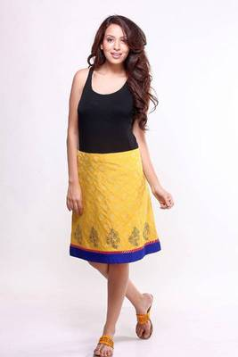 Ethnic A-line Block Printed Skirt