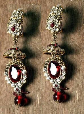 Ethnic earrings in australian diamonds