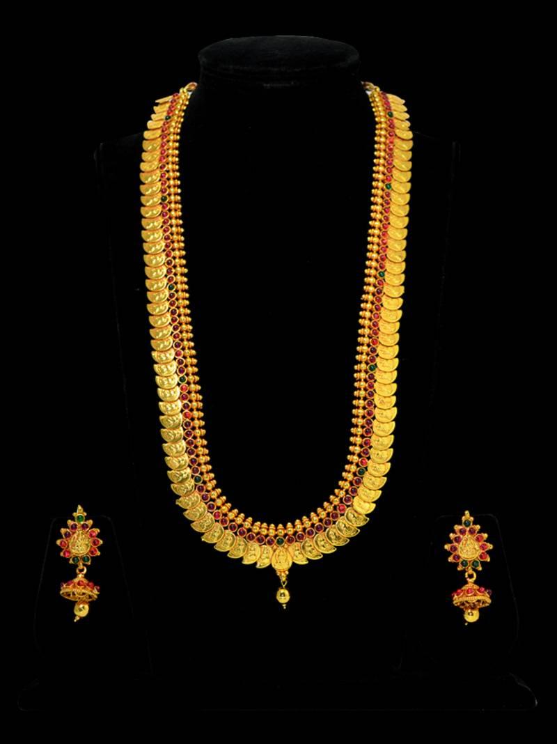 Buy Kasu Mala Lakshmi Ji Coins Traditional Design Necklace