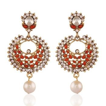 Glittery Gold Plated Jewellery Earrings For Women
