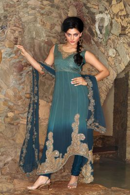Party Wear Dress Material Sherry6501b