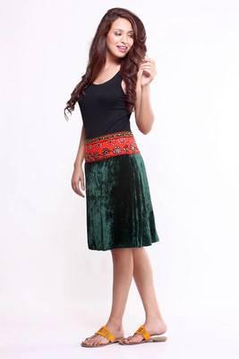 Ethnic Straight Fusion Skirt