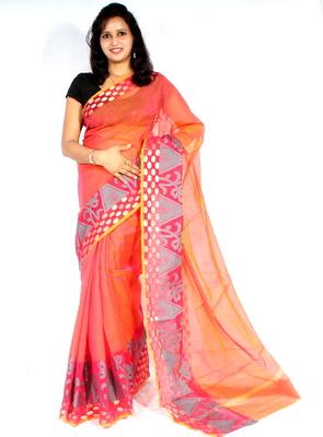 Chanderi cotton banarasi zari border saree