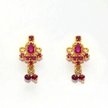 Anvi's Ruby earrings