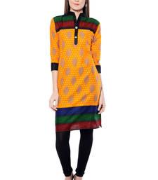 Buy Orange printed  Cotton  kurtas-and-kurtis wedding-season-sale online