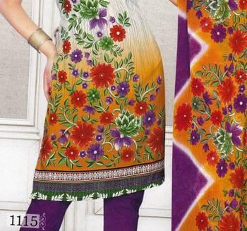 Dress Material Crepe Designer Prints Unstitched Salwar Kameez Suit D.No SJ1115