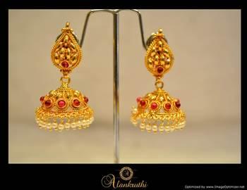 Temple Jewellery - Jhumka 10