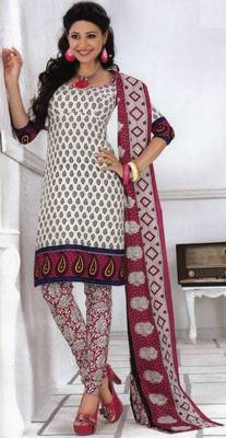 Cotton dress material elegant designer unstitched salwar suit d.no 1333