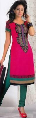 Crepe dress material elegant designer unstitched salwar suit d.no 8004