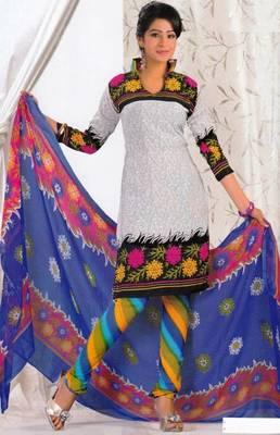 Crepe dress material elegant designer unstitched salwar suit d.no 8017