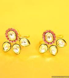 Buy Ryby Kundan meenakari Toe rings toe-ring online