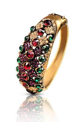 Just Women Traditional Kada with Semi precious Crystals