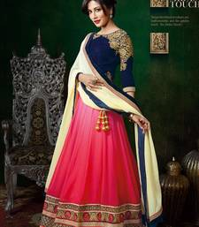 Buy pink georgette lehenga choli with dupatta party-lehenga online