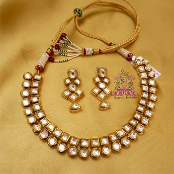 Kundan Meena Elegant Necklace