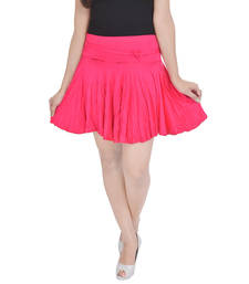Buy Cotton Lycra Free Size Mini Skirt with Divider skirt online