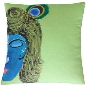 Divine Krishna Cushion Cover