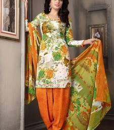 Buy multicolor printed crepe unstitched salwar with dupatta punjabi-suit online