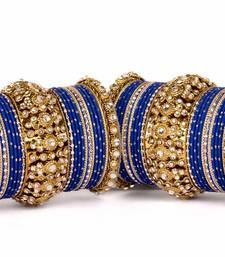 Buy Beautiful golden dot pattern bangle set for two hands wedding-season-sale online