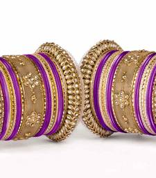Buy Velvet-like texture bangle set for two hands pakistani-jewellery online