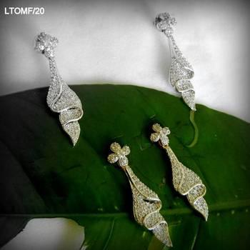 americian diamond earring