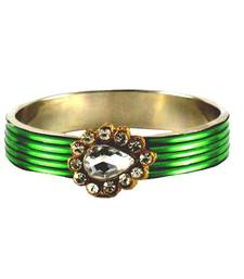 Buy Extra Large size Brass and Metal Bangle Color Green bangles-and-bracelet online