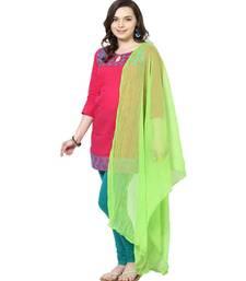Buy Chiffon Dupatta Light Parrot Green scarf online
